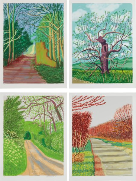 David Hockney-March 19; March 21; May 16; And May 18, From The Arrival Of Spring In Woldgate, East Yorkshire In 2011 (Twenty Eleven)-2011