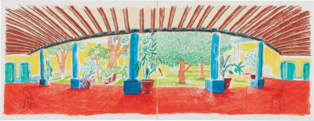 David Hockney-Hotel Acatlan, First Day, From The Moving Focus Series-1985