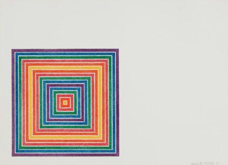 Frank Stella-Honduras Lottery Co., From Multicolored Squares, State Ii-1973