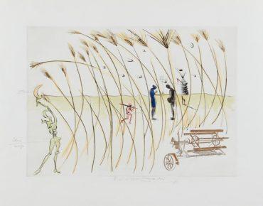 Salvador Dali-La Moissonneuse (The Combine-Harvester), For Hommage A Leonardo Da Vinci (American Inventions)-1975