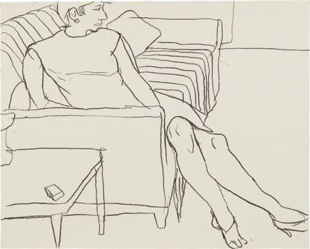 Richard Diebenkorn-Woman Seated On Sofa-1965
