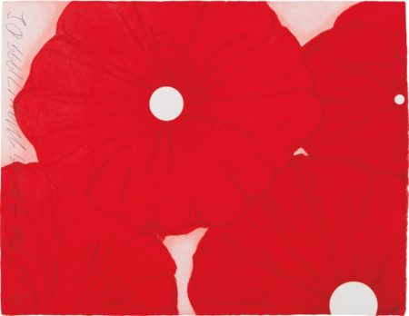 Donald Sultan-Four Red Flowers, May 17, 1999-1999