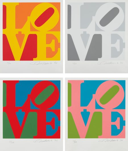 Robert Indiana-Book Of Love: Four Plates-1996