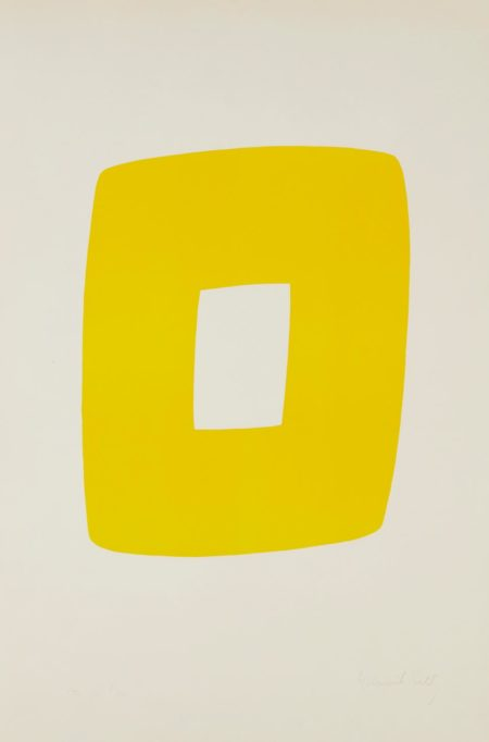 Ellsworth Kelly-[Color Variant In Yellow] Of Black With White (Noir Avec Blanc), From Suite Of Twenty-Seven Color Lithographs-1965