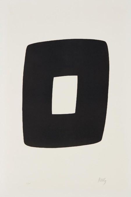 Ellsworth Kelly-Black With White-1965