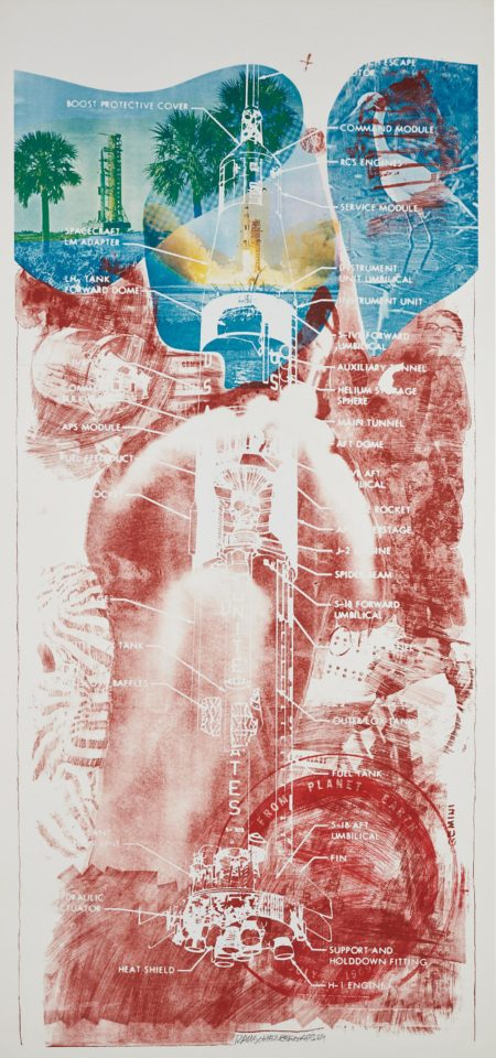 Robert Rauschenberg-Sky Garden, From The Stoned Moon Series-1969