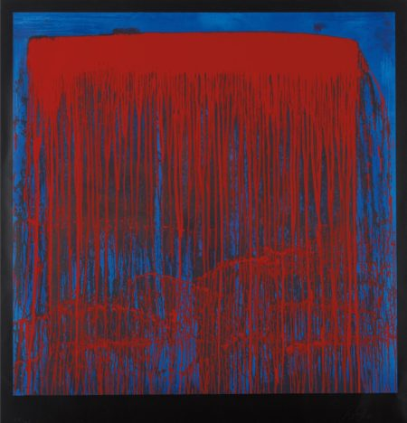 Pat Steir-Red And Blue Berlin Waterfall-1993