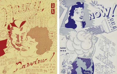 Jim Nutt-Untitled (Hairy Who Exhibition Poster For The San Francisco Art Institute); And Untitled (Hairy Who Exhibition Poster For The Hyde Park Art Center-1968