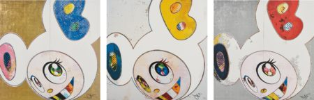 Takashi Murakami-And Then X 6 (White: The Superflat Method. Blue And Yellow Ears); Dob In Pure White Robe (Navy & Vermillion); And Dob In Pure White Robe (Pink & Blue)-2013