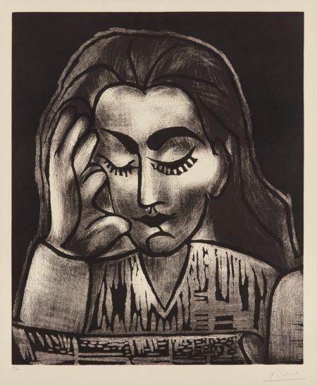 Pablo Picasso-Jacqueline Lisant (Jacqueline Reading)-1962