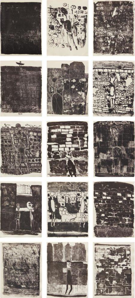 Jean Dubuffet-Les Murs (The Walls): 12 Poemes De Guillevic-1945