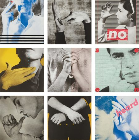 Barbara Kruger-Untitled (We Will No Longer Be Seen And Not Heard)-1985