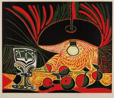 Pablo Picasso-Nature Morte Au Verre Sous La Lampe (Still Life With Glass Under The Lamp)-1962
