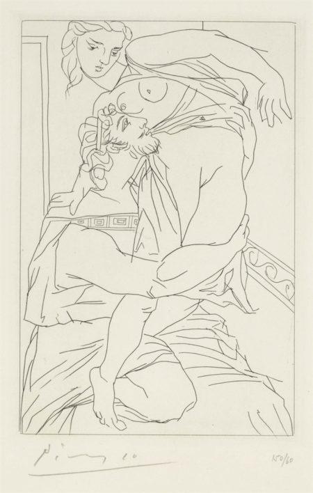 Pablo Picasso-Cinesias Et Myrrhine, From Lysistrata-1934