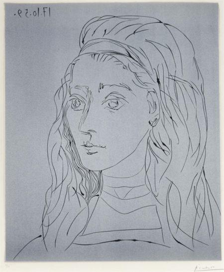Pablo Picasso-Portrait De Jacqueline-1959