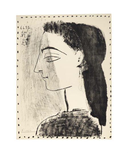 Pablo Picasso-Jacqueline Au Mouchoir Noir-1959