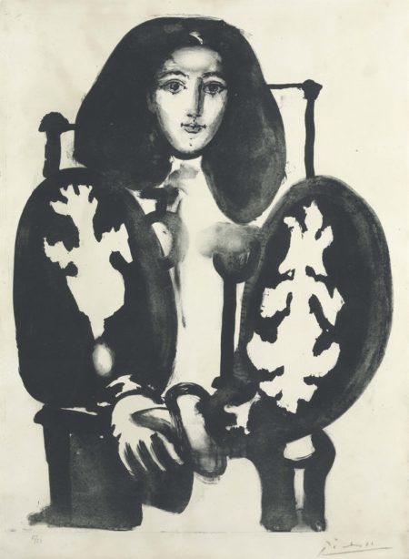 Pablo Picasso-Femme Au Fauteuil No. 1-1948
