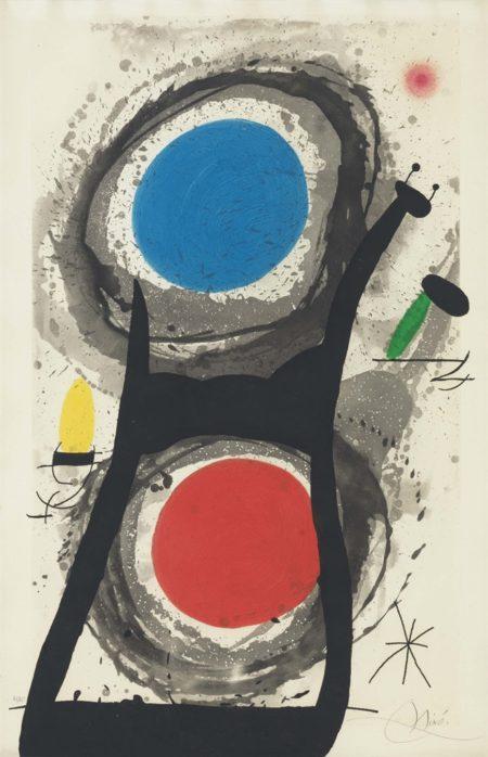 Joan Miro-Ladorateur Du Soleil-1969