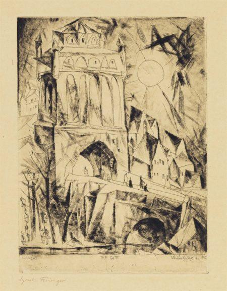Lyonel Feininger-The Gate (Das Tor), From Die Schaffenden-1912