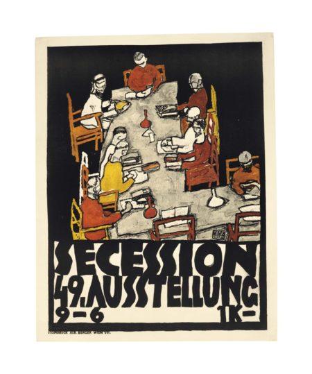 Egon Schiele-Secession 49. Ausstellung Plakat-1918