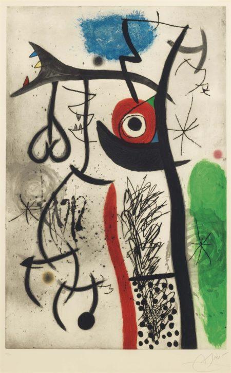 Joan Miro-Letrangle-1974