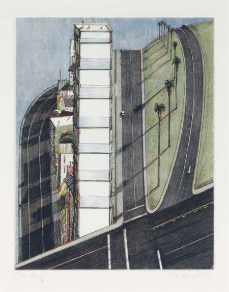 Wayne Thiebaud-Palm Ridge, From Recent Etchings I-1979