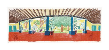 David Hockney-Hotel Acatlan: First Day, From Moving Focus-1985