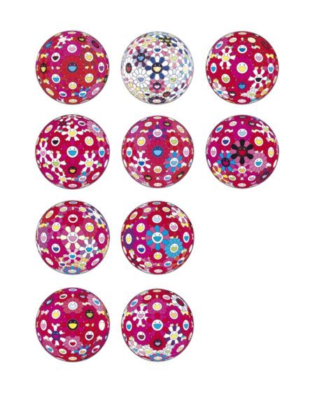 Takashi Murakami-Ten Prints By The Artist: Flowerball (3D) - Red, Pink, Blue; Letter to Picasso; Comprehending the 51st Dimension; Right There, The Breadth of the Human Heart; Flowerball (3D) - Tum Red!; Groping For the Truth; Hey! You! Do You Feel What I Feel?; Flowerball (3D) - Papyrus; Flowerball (3D) - Blue/Red; There is Nothing Eternal in this World. That is Why You are Beautiful-2014