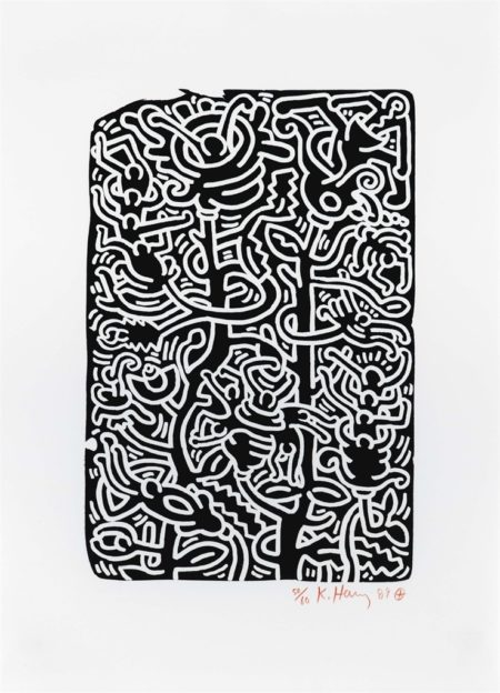Keith Haring-Stones: One Plate-1989