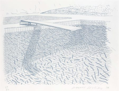 Lithographic Water Made Of Lines-1980