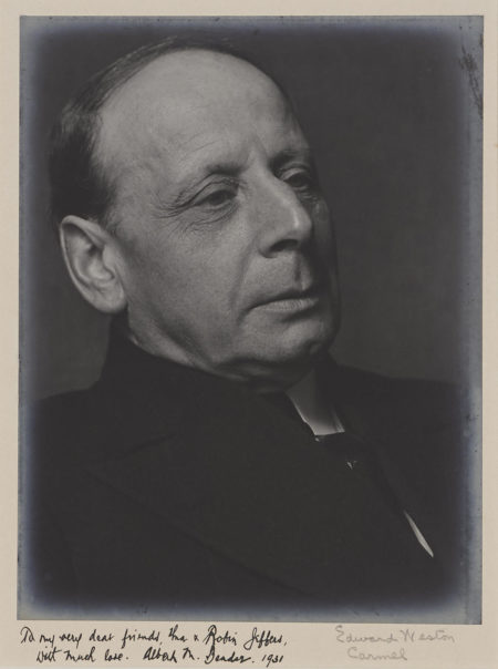 Edward Weston-Portrait Of Albert Bender-1928