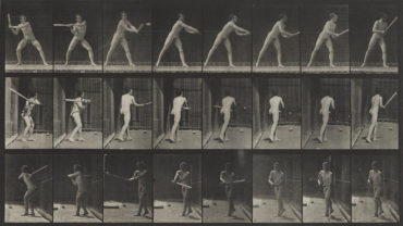 Eadweard Muybridge-Pl. 277 (Man With Bat); Pl. 603 (Naked Man On Horseback), From Animal Locomotion-1887