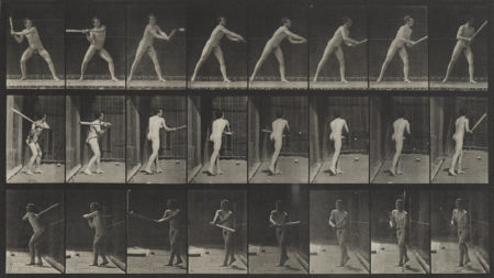 Eadweard Muybridge-Pl. 277 (Man With Bat); Pl. 603 (Naked Man On Horseback), From Animal Locomotion-1887