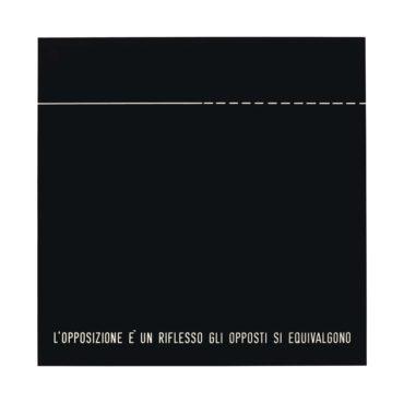Vincenzo Agnetti-Assioma: Lopposizione E Un Riflesso Gli Opposti Si Equivalgono-1970