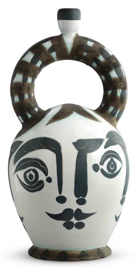 Pablo Picasso-Vase Azteque Aux Quatre Visages (A.R. 401)-1957