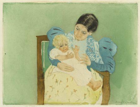 Mary Cassatt-The Barefooted Child (Breeskin 160)-1895