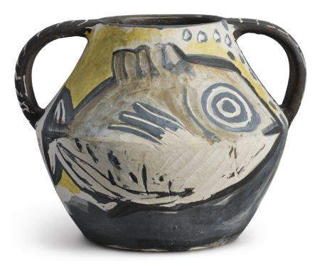 Pablo Picasso-Vase Deux Anses Poissons (A.R. 133)-1951
