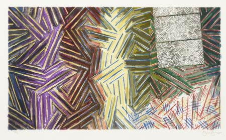 Jasper Johns-Between The Clock And The Bed (Ulae 245)-1989