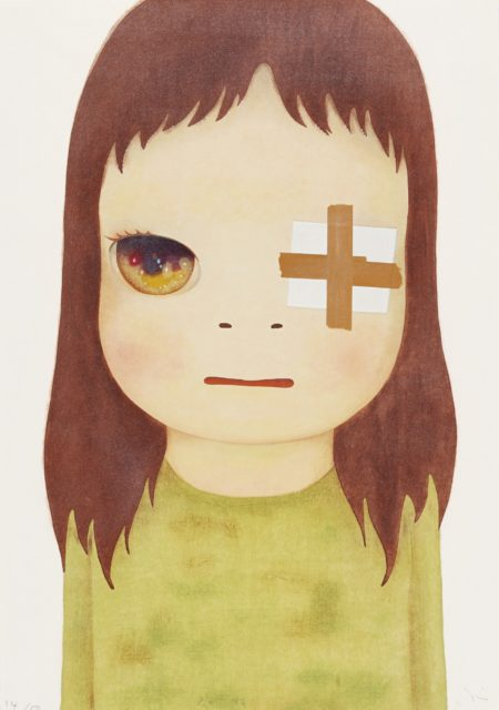 Yoshitomo Nara-Untitled (Eye Patch)-2012