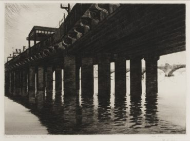 Sybil Andrews-Canon Street Railway Bridge-1926