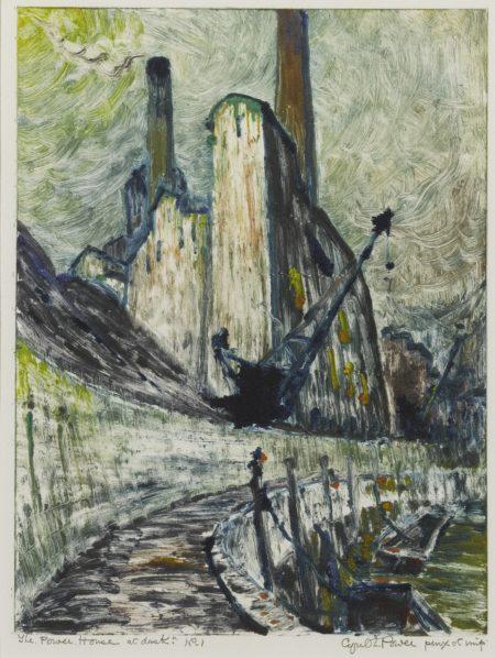 Cyril Edward Power-The Power House At Dusk-1932