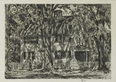 Childe Hassam - The Lion Gardiner House, Easthampton (Cortissoz/Clayton 159)-1920