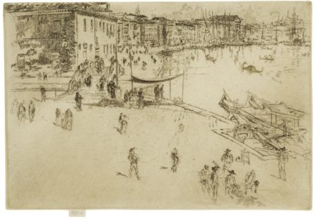 James Mcneill Whistler - The Riva, No. 2 (K. 206; G. 230)-1880