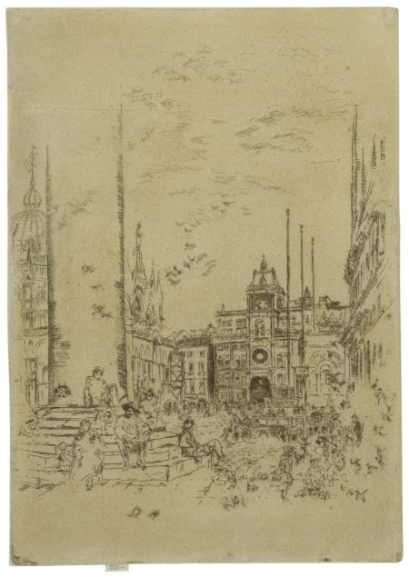 James Mcneill Whistler - The Piazzetta (K. 189; G. 218)-1880