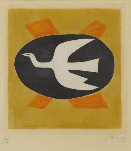 Georges Braque-Loiseau De Feu (Oiseau XIII) (V. 121)-1958