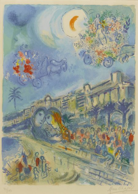 Charles Sorlier After Marc Chagall - Bataille De Fleurs (M. Cs 33)-1967