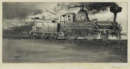 Lyonel Feininger-The Old Locomotive (Windspiel) (Prasse L 2)-1906