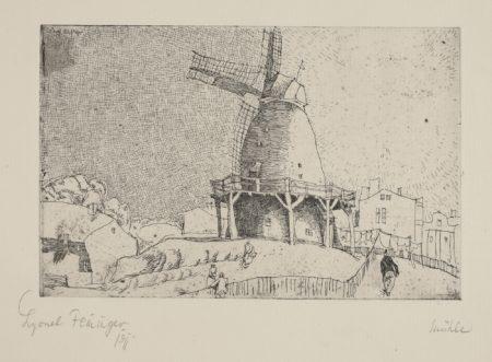 Lyonel Feininger-Alte Windmuhle (P. E 42)-1911