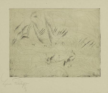 Lyonel Feininger-The Wild Agitated Sea (Das Wild Aufgeregte Mer) (P. E 62)-1917