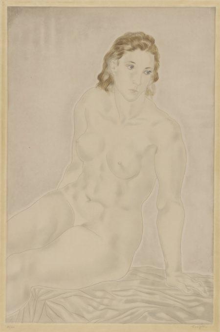 Tsuguharu Foujita-Nu Assis (Buisson 30.35)-1930